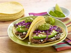 BEEF TACOS WITH POMEGRANATE GUACAMOLE