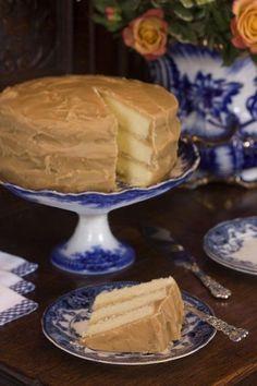 old fashion caramel icing on cake