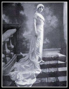 1912 Edwardian wedding gown