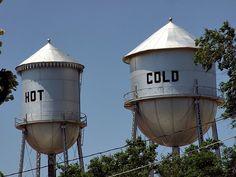 Funny water towers by josephleenovak, via Flickr
