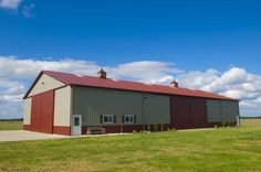 Morton Buildings machine storage facility in Charleston, Missouri. build farm, morton build, build machin