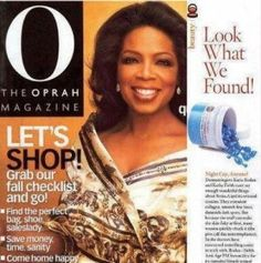 Oprah recommended Rodan and Fields Anti-Aging REDEFINE Night Renewing Serum in her magazine.
