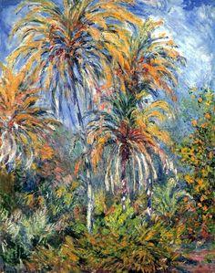 1884,Claude Monet / Le palme a Bordighera