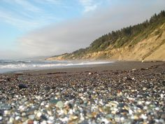 Agate beach, California.  Near Patrick's Point Campground.  Worms eye view.