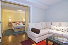 small apartments, glass doors, basement designs, guest bedrooms, basement bedrooms, basement idea, guest rooms, basements, bedroom designs