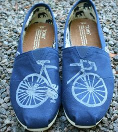 Bicycle Print Toms Shoes.