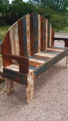 Handmade Rustic Pallet Bench | 101 Pallets for the deck