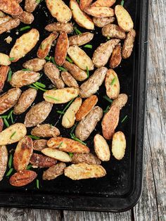 Roasted Parmesan and Chive Fingerling Potatoes