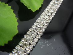 3 Row Costume Applique Crystal Rhinestone Trims Silver x 1 Yard | eBay