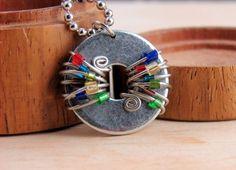Beaded Washer necklace