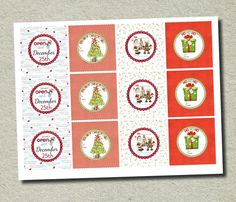 Printable Gift Tags 2.5 inches - Free! from @Forever Your Prints