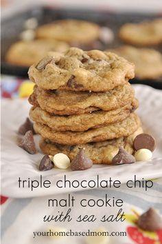 chocolate chips, chocolates, sea salt, tripl chocol, chocol chip
