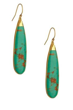 Turquoise long earrings