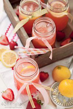 Strawberry lemonade party