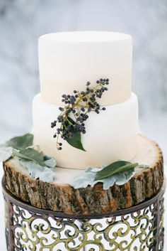 Winter wedding cake:...
