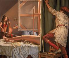 Painting by ROBERT SCHEFMAN