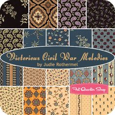 #FQSgiftguide - Victorious Civil War Melodies Fat Quarter Bundle Judie Rothermel for Marcus Brothers Fabrics