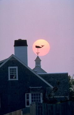 Beautiful moon over Chatham, MA on #CapeCod