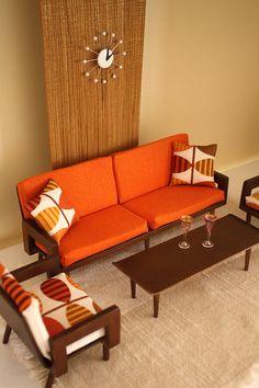 Retro mini living room.