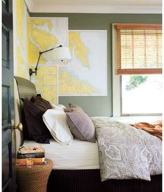 Re-live your gap-yaah and map the world above your bed. Mark off the places you and your housemates have been to - and where you plan to go next. #student #freshers #interiors