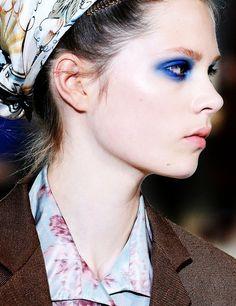 make-up, eyes, blue