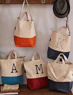 travel gifts, bag collect, beach bags, monogram, bridesmaid gifts, gift idea, tote bags, west elm, baggu bag