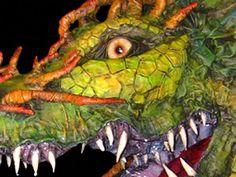 Dragon By Paper Mache Dan  Dan Reeder            via Pat Carr