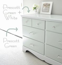 Best advice yet for furniture refinishing, use of primer, paint and finisher. Not distressing - Centsational Girl » Blog Archive » Two Tone Treasure + How to Paint Furniture Diy Painting Wood Furniture, How To Painting Dressers, Painting Furniture, Old Dressers, Furniture Refinishing, Furniture Ideas, Diy Painting Dressers, Painting Tutorials, Repaint Furniture