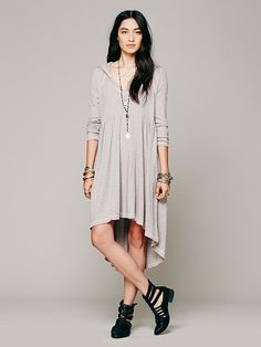 Comfy Hooded Dress | Free People
