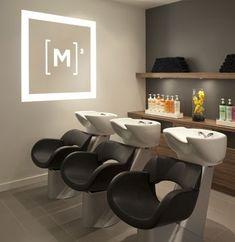 wall art, logo, futur salon, hairsalon design, color, salon shampoo bowls, home salon, space age, hair salon