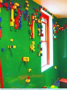Lego bedroom wall