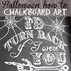 How to create Halloween Chalkboard Art