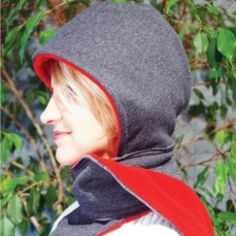 Hooded Sweatshirt Scarf~ Transform those old sweatshirts into what might become your new favorite winter accessory.  Tutorial and photos.