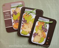 Finding Time to Create: Fall Cards made with  my Silhouette