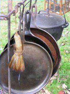 Cast iron utensils