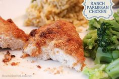 Ranch Parmesan Chicken recipe. Easy dinner with ingredients that you probably already have in your pantry!