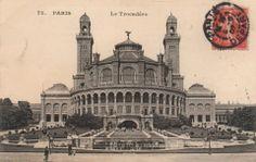 l'ancien Palais du Trocadéro, en 1907,