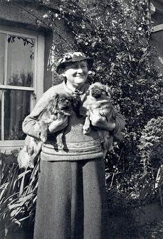 Beatrix Potter outside Hilltop