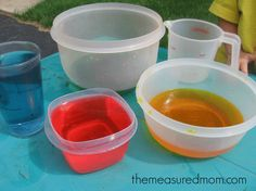 teaching volume with water 590x442 Water Math & Science Activities for Kids Ages 3 6