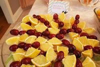 Beautiful Butterflies made of grapes and oranges for Fairy Party