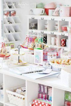 craft supplies organized