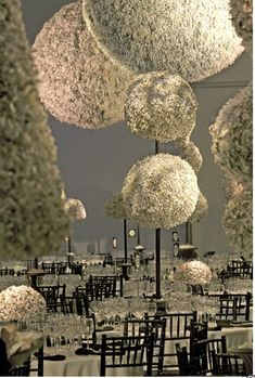 @Rachelle Grockau - check this out!    Baby's Breath Spheres {Event design by David Stark}