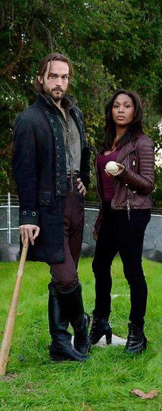 Tom Mison with Sleepy Hollow co-star Nicole Beharie