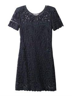 battenburg lace dress / sea