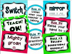 Whole Brain Teaching FREEBIE!!