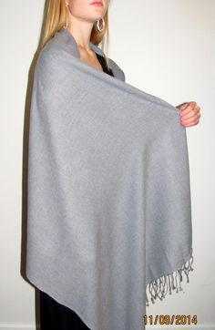vibrant silver grey cashmere Nepal shawl dream $59.99 sale look stylish and feel luxuriously warm.