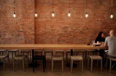 beer tasting, bricks, exposed brick, wooden tables, wall lighting, long tables, dining tables, wall design, salt