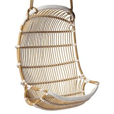 Double Hanging Rattan Chair | Serena + Lily