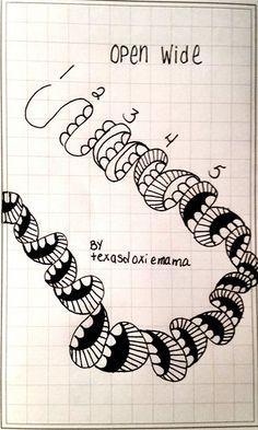 Open wide~Zentangle~O