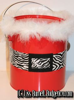 """Duct tape has never been prettier! Create a unique container for gift giving this holiday season- a perfect choice for a """"Secret Santa"""" gig!"""